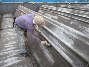 公共交通機関本社屋根塗装工事