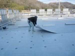 病院施設屋上防水工事